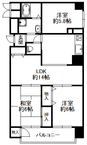 大阪市鶴見区今津中3丁目   シャトー三愛